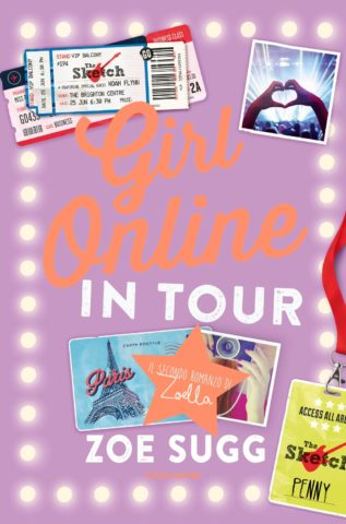 Girl online in tour
